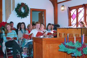 Christmas choir practice